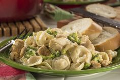 Food Test Kitchen invites you to take a stroll through the frozen food aisle at the supermarket for everything you need to make Easy Tortellini One-Pot Easy Potluck Recipes, Pasta Recipes, Chicken Recipes, Cooking Recipes, Potluck Ideas, Tortellini Recipes, Potluck Dishes, Kid Recipes, Pasta Sauces