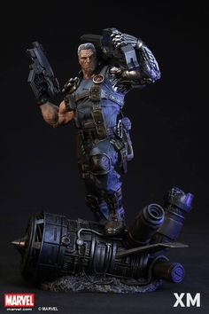 XM Studios is excited to present our next Marvel Premium Collectibles series statue, Cable! The time travelling mutant is immortalized in amazingly detailed 1:4 scale cold-cast porcelain. Each painstakingly handcrafted statue is individually hand-painted with the highest possible quality finish. An XM exclusive for 2016, this statue shows the broody super hero brandishing his power weaponry from the future. A perfect companion piece to our upcoming Deadpool!