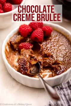 This Chocolate Creme Brulee recipe is delicious, creamy, and the most perfect special occasion dessert. Easily made ahead of time, and absolutely scrumptious your guests will love this creme brulee. Chocolate Creme Brulee, Chocolate Lava Cake, Best Chocolate, Chocolate Cookies, Chocolate Desserts, Easy Desserts, Delicious Desserts, French Desserts, French Food