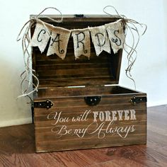 Shabby Chic Rustic Wooden Card Box Wedding Card Box on Etsy, $65.00