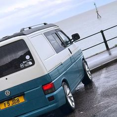 """It has been several weeks of being stuck at home, but hopefully this weekend we will be out again and away for a night somewhere local. If the weather is good we might even try to get over to """"Vdub at the Pub"""" on Sunday. Vw T5 Campervan, T4 Camper, Vw Bus, Volkswagen, Vw Transporter T4, Half Term Holidays, Two Tone Paint, Roof Top Tent, Camper Conversion"""