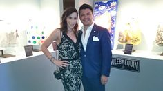 Brenda Jaet y Mauricio Serrano en la Subasta de la Fundación Rebeca de Alba