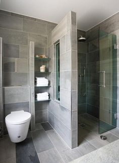 Contemporary wet rooms are one of our favourite trends right now. Dream Bathrooms, Beautiful Bathrooms, Modern Bathroom, Small Bathroom, Master Bathroom, Bathroom Grey, Family Bathroom, Laundry In Bathroom, Bad Inspiration