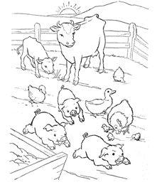 Activitati copii, planse de colorat, Ferma de animale Farm anilams