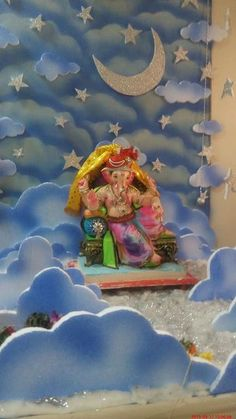 Ganpati Decoration Ideas at Home with Theme 2