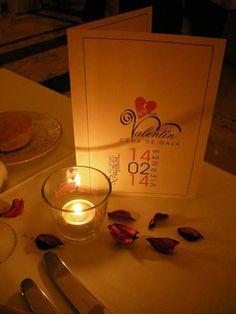 menu romántico