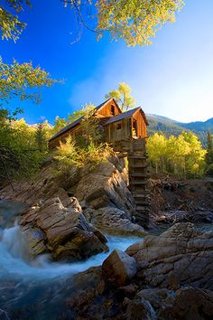 Crystal Mill, Colorado -- One of the most beautiful spots! Must go by jeep up a mountain trail to get there...