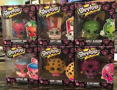Shopkins Season 6 Funko Set 6 Vinyl Figures Apple Poppy Strawberry Donut Cookie | eBay