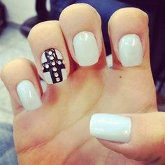 Cute Nails! Like this but no gem stones!