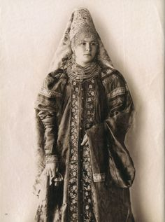 Traditional Russian Costume XIX cent. Central Russia, Yaroslav province