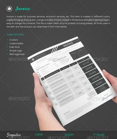 #Invoice - #Proposals & #Invoices #Stationery Download here: https://graphicriver.net/item/invoice/5880919?ref=alena994