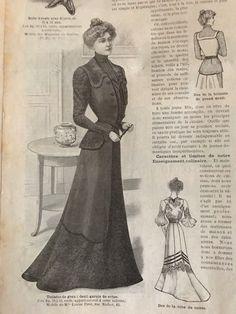 Edwardian MODE ILLUSTREE May 7 /& 14,1911+multi sewing PATTERN sheet