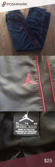 f485170f17a563 Jordan sweat track pants Red lining down the side very nice and are in  amazing