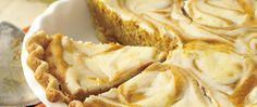 One delightful dessert...two great tastes! Cream cheese swirls are an attractive addition to pleasing pumpkin pie.