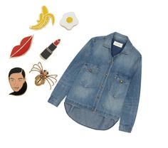 """Stickers or brooches on jeans"" by sabah-al-qahtani on Polyvore featuring Georgia Perry and The Great"