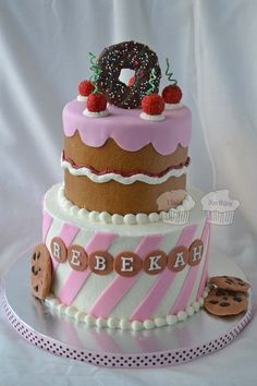 Bake Shoppe themed birthday cake