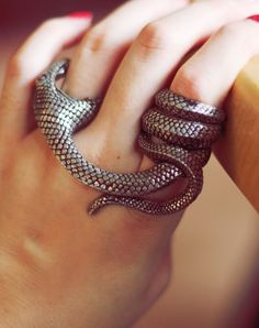 "Snake ring  ""they are blind, these snakes, isnt it? ""she asked..."