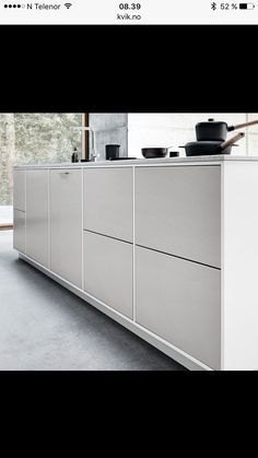 Kvik modu light grey kitchen. Modern scandinavian minimalistic