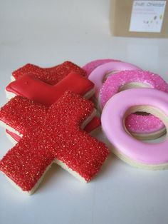 XOXO Valentine's Sugar cookies  1 dozen by justcrumbs on Etsy, $20.50