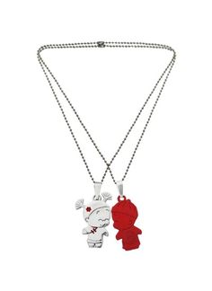 Menjewell couple heart silver maroon cute teddy bear broken we have a wide range of traditional modern and handmade without chain pendants online aloadofball Image collections