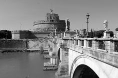 Castel Sant'Angelo Rome - Rome black and white photography