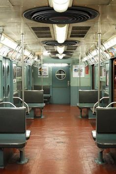 New York City Subway in Mint Green - NYC Photography - Vintage NYC Subway Car - Subway Art - NYC subway decor, boys room - mancave art on Etsy, $30.00