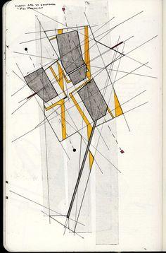 Innocent By Design Conceptual Sketches, Abstract Sketches, Architecture Drawings, Concept Architecture, Deconstructivism, Concept Diagram, Sketch Design, Map Art, Geometric Designs