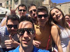 José Luis y sus amigos desde la Feria Nacional del Queso, en la localidad de Trujillo.
