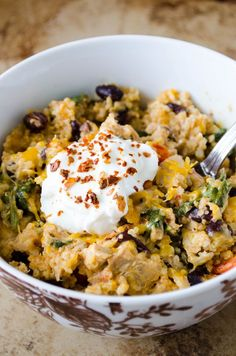 Mexican Chicken Quinoa Casserole #healthy #mexican #quinoa #dinner #lunch #casserole #chicken