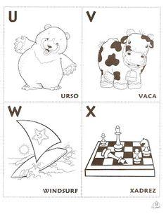 4 Modelos de Alfabeto Completo para Colorir e Imprimir - Online Cursos Gratuitos Snoopy, Lettering, Album, Education, Comics, School, Cards, Fictional Characters, Yuri