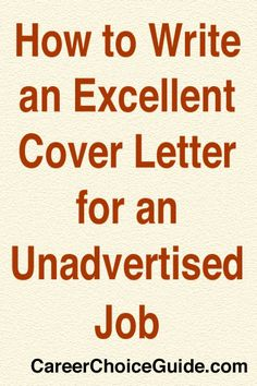 sample cover letter for an unadvertised job - resume cover letter on pinterest 64 pins