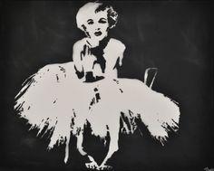Black and White Marilyn Monroe Stencil   Marilyn Monroe Stencil Art Print