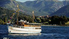 Argentina: Barack Obama y su familia disfrutaron un paseo por el lago Nahuel Huapi, en Bariloche  La Modesta Victoria navega el Nahuel Huapi desde 1938.