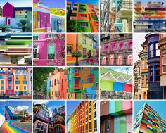 Cool Color-Blocked Buildings