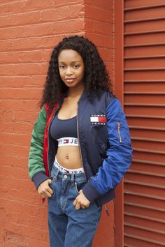 Go ahead, show off! The new Tommy Jeans as seen in Brooklyn, NY Woman, Streetwear, girl Mode Tommy Hilfiger, Tommy Hilfiger Fashion, Tommy Hilfiger Jackets, Hypebeast Girl, Hypebeast Women, Young Fashion, 1940s Fashion, Girl Fashion, Teenager Fashion