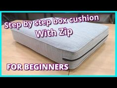 Diy Cushion Covers, Box Cushion, Cushions To Make, Cushions On Sofa, Patio Furniture Cushions, Upholstery Cushions, Pillows, Sewing Hacks, Sewing Tutorials