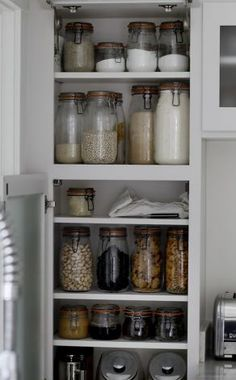 The cupboards have dozens of mason jars, everything is bought in bulk. Bea Johnson, who writes the popular ZeroWaste blog and is the author of ZeroWaste Home in her Mill Valley, Calif home. Photo: Brant Ward, The Chronicle