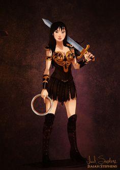 Mulan as Xena from Xena: Warrior Princess