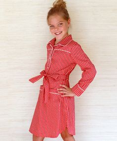 Look at this #zulilyfind! Red Links Ali-Scott Henley Dress - Infant, Toddler & Girls by Pears + Bears by Kayce Hughes #zulilyfinds