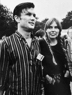 Kris Kristofferson with Joni Mitchell at The Newport Folk Festival, July 1969.