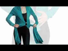 11 Ways to Wear a Convertible Sweater | How-To VIdeo: Ways to Wear a DKNY Cozy | wrap sweater