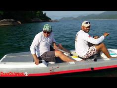 Caiaque de isopor 2 lugares - YouTube Make A Boat, Fish, Sports, Youtube, Kayaking, Places, Hs Sports, Pisces, Sport
