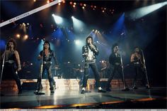 Preforming during the Bad Tour