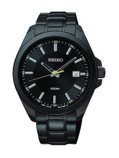 Black-Ion Seiko SUR073 Men's Watch Stainless Steel