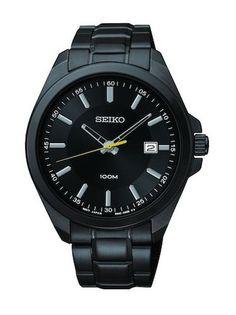 Black-Ion Seiko SUR073 Men's Watch Stainless Steel