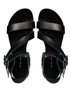 Image 3 - New Look - Helena - Sandales plates asymétriques - Noir