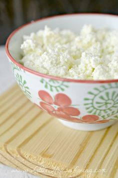 Easy Homemade Ricotta Cheese - plus links to recipes for using both the ricotta and left-over whey.