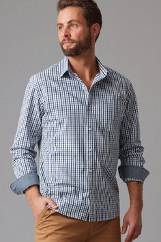Woven in a breathable high-quality cotton this shirt features an iconic Wild South check design. Cut in our modern fit and featuring contrast chambray inner cuffs and a left chest pocket. We've finished the shirt with Wild South branded buttons and woven shirt tag. Team with chinos or denim for an off duty weekend look.