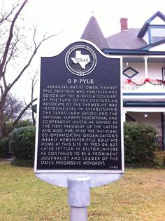 O.P. Pyle Historical Marker {photo by Crystal Arcand}