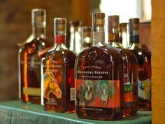 Bourbon Print featuring the photograph Woodford Kentucky Derby Bottles by Constance Sanders
